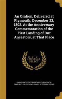 ORATION DELIVERED AT PLYMOUTH