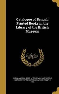 CATALOGUE OF BENGALI PRINTED B