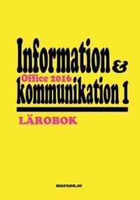 Information och kommunikation 1 Lärobok, Office 2016