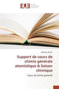 Support de cours de chimie générale atomistique & liaison chimique