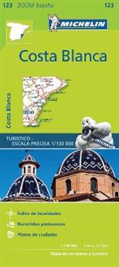 Costa Blanca Michelin 123 delkarta Spanien : 1:200.000