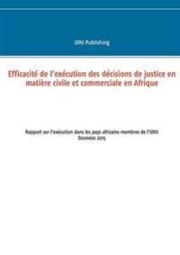 Efficacité de l'exécution des décisions de justice en matière civile et commerciale en Afrique