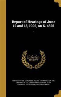 REPORT OF HEARINGS OF JUNE 12