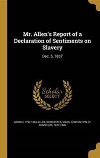 MR ALLENS REPORT OF A DECLARAT