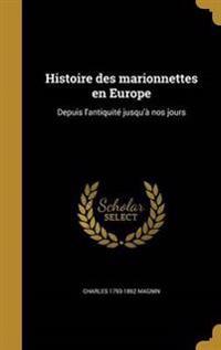 FRE-HISTOIRE DES MARIONNETTES