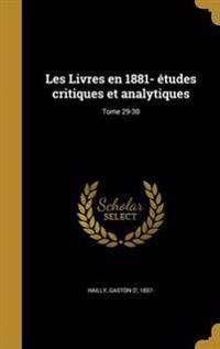 FRE-LES LIVRES EN 1881- ETUDES