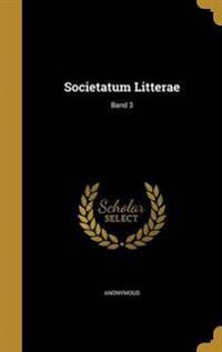 GER-SOCIETATUM LITTERAE BAND 3