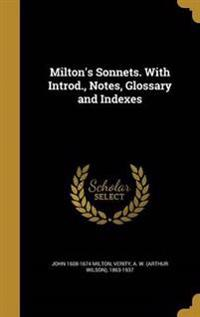 MILTONS SONNETS W/INTROD NOTES