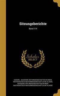 GER-SITZUNGSBERICHTE BAND 114