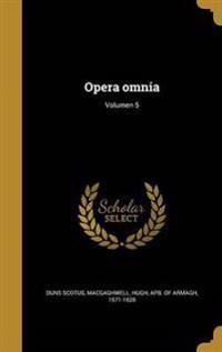 LAT-OPERA OMNIA VOLUMEN 5