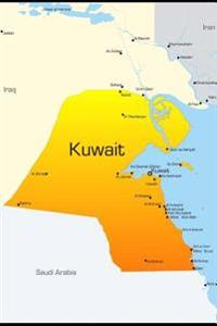 Map of Kuwait Journal: 150 Page Lined Notebook/Diary