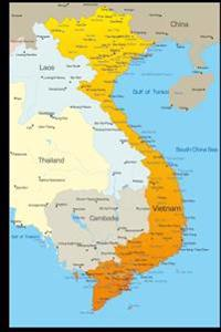 Map of Vietnam Journal: 150 Page Lined Notebook/Diary
