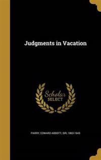 JUDGMENTS IN VACATION