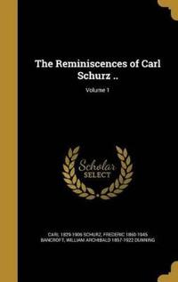 REMINISCENCES OF CARL SCHURZ V