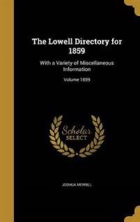LOWELL DIRECTORY FOR 1859