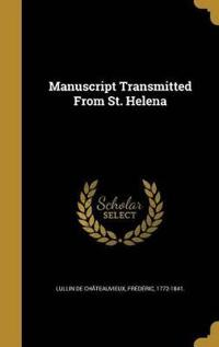 MANUSCRIPT TRANSMITTED FROM ST