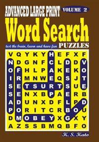 Advanced Large Print Word Search Puzzles, Vol. 2