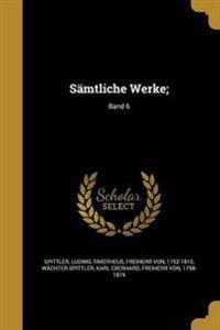 GER-SAMTLICHE WERKE BAND 6