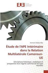 Étude de l'APE Intérimaire dans la Relation Multilatérale Cameroun-UE