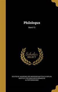 GER-PHILOLOGUS BAND 13