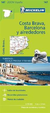 Barcelona y Alrededores Costa Brava - Zoom Map 147