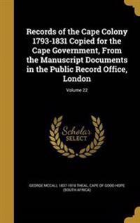 RECORDS OF THE CAPE COLONY 179