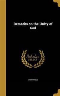 REMARKS ON THE UNITY OF GOD