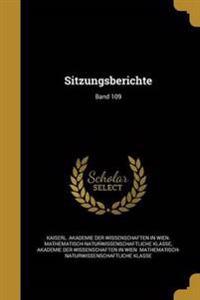 GER-SITZUNGSBERICHTE BAND 109