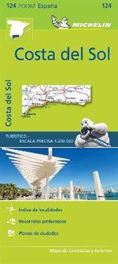 Costa del Sol Michelin 124 delkarta Spanien : 1:200.000