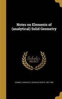 NOTES ON ELEMENTS OF (ANALYTIC