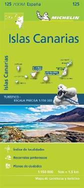 Kanarieöarna Michelin 125 delkarta Spanien : 1:150000