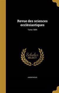 FRE-REVUE DES SCIENCES ECCLESI