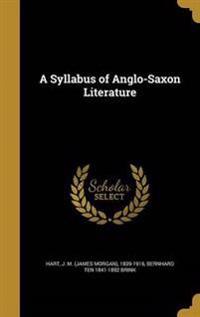 SYLLABUS OF ANGLO-SAXON LITERA