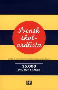 Svensk skolordlista 35 000 ord och fraser