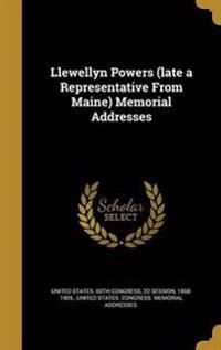 LLEWELLYN POWERS (LATE A REPRE