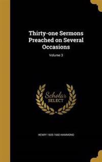 30-1 SERMONS PREACHED ON SEVER
