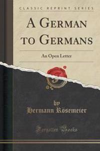 A German to Germans