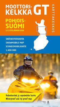 Moottorikelkka GT Pohjois-Suomi, 1/2 eteläinen osa, 1:400 000
