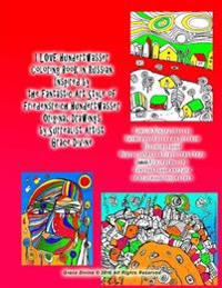 I Love Hundertwasser Coloring Book in Russian Inspired by the Fantastic Art Style of Friedensreich Hundertwasser Original Drawings by Surrealist Artis