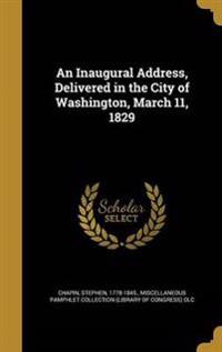 INAUGURAL ADDRESS DELIVERED IN