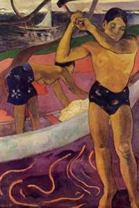 """A Man with Axe"" by Paul Gauguin - 1891: Journal (Blank / Lined)"
