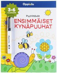 Pyyhittävät ensimmäiset kynäpuuhat -puuhakirja 3-6 v