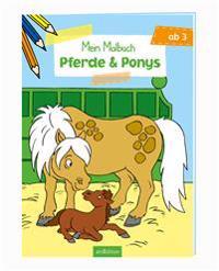 Malbuch ab 3 Jahren - Pferde & Ponys VE 5 Exemplare