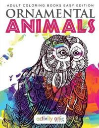 Ornamental Animals - Adult Coloring Books Easy Edition