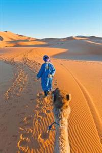 A Berber Walking with a Camel Erg Chebbi Morocco: 150 Page Lined Notebook/Diary