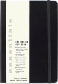 Esstentials Large Black Dot Matrix Notebook (Diary, Journal)