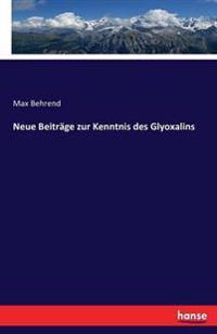 Neue Beitrage Zur Kenntnis Des Glyoxalins