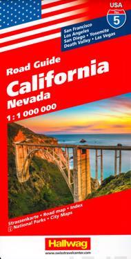 USA California/Kalifornien karta nr 5 Hallwag : 1:1milj