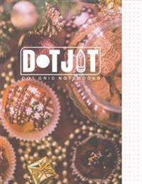 Dot Jot Dot Grid Notebook: Christmas Cookies Design, 50 Pages, 8.5 X 11 (Journal, Diary) (Dotted Graph Paper)