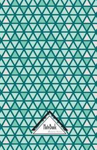 Notebook Journal Dot-Grid, Graph, Lined, No Lined: Geometric Triangle Pearl Teal Green Tile: Small Pocket Notebook Journal Diary, 120 Pages, 5.5 X 8.5